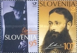 ESLOVENIA 2002 - SLOVENIE - PERSONAJES - ARQUITECTO Y ESCRITOR - YVERT Nº 346-347** - Slovénie