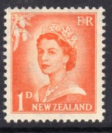 New Zealand 1955-9 Definitives Large Value Figures 1d Value, MNH, SG 745 - New Zealand