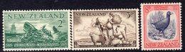 New Zealand 1956 Southland Centennial Set Of 3, Hinged Mint, SG 752/4 - New Zealand