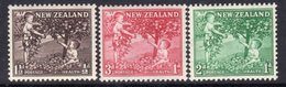 New Zealand 1956 Health Stamps Set Of 3, MNH, SG 755/7 - New Zealand