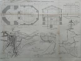 ANNALES DES PONTS Et CHAUSSEES (Dep 45)- Plan De La Distributions D'Eau De Pithiviers - Graveur Macquet 1893 (CLC62) - Cartes Marines
