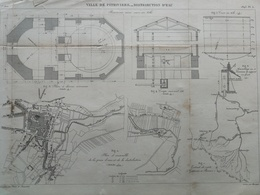 ANNALES DES PONTS Et CHAUSSEES (Dep 45)- Plan De La Distributions D'Eau De Pithiviers - Graveur Macquet 1893 (CLC62) - Nautical Charts