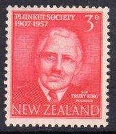 New Zealand 1957 50th Anniversary Of Plunkett Society, Hinged Mint, SG 760 - New Zealand