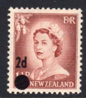 New Zealand 1958 2d On 1½d Surcharge, Large Dot, MNH, SG 763 - New Zealand