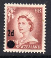New Zealand 1958 2d On 1½d Surcharge, Small Dot, MNH, SG 763a - New Zealand
