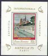 1975 ROUMANIE BF 118** Tableau Notre-Dame De Paris - Blocs-feuillets