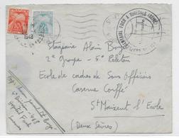 1948 - ENVELOPPE FM  De L'HOPITAL COMPLEMENTAIRE FOCH à SURESNES Avec TAXE !! => ST MAIXENT - Postmark Collection (Covers)
