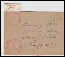52858 Seine Et Marne Hericy 1917 Hopital Auxiliaire Croix Rouge Red Cross Guerre 1914/1918 War Devant De Lettre - Marcophilie (Lettres)