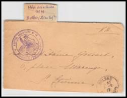 52862 Seine-Maritime Bolbec 1917 Hopital Auxiliaire 19 Sante Guerre 1914/1918 War Devant De Lettre Front Cover - Storia Postale