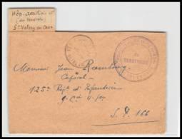 52872 Seine-Maritime St Valery En Caux Hopital Auxiliaire Du Terrictoire 43 Bis Guerre 1914/1918 War Devant De Lettre - Marcophilie (Lettres)