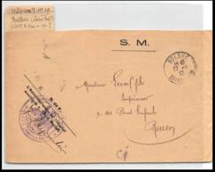 52873 Seine-Maritime Bolbec 1917 Hopital Auxiliaire 19 Sante Guerre 1914/1918 War Devant De Lettre Front Cover - Storia Postale