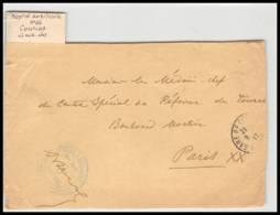 52895 Gironde Coutras 1917 Hopital Auxiliaire 66 Medecin Sante Guerre 1914/1918 War Devant De Lettre Front Cover - Postmark Collection (Covers)