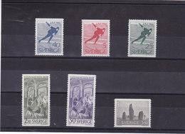SUEDE 1966 Yvert 533-538 NEUF** MNH - Suède