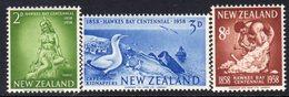 New Zealand 1958 Hawkes Bay Centenary Set Of 3, MNH, SG 768/70 - New Zealand