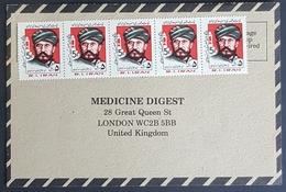 1985, IRAN, Medicine Digest, Carte Response, Bandar Abbas - London - Iran