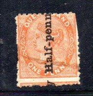 APR386 - QUEENSLAND 1879,  1/2 P. Su 1 Penny Yvert N. 45 Usato   (2380A) Difettoso - Nuovi