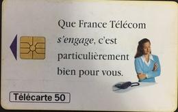 Paco \ FRANCIA \ France Telecom \ 0611B \ Que France Telecom S'engage (GEM1B Red) \ Usata - Frankrijk