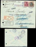 S7853 - DR R - Briefumschlag Gewerkschaft Franz Ferdinand Hamm: Gebraucht Berlin - München - Brüssel 1913 , Bedarfserh - Deutschland
