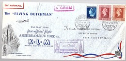 Flying Dutchman 1946 KLM > New York Large Cover (LA30-20a) - Periode 1891-1948 (Wilhelmina)