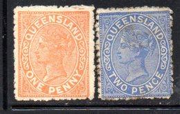 APR389 - QUEENSLAND 1883,  Due Valori Nuovi */sg   (2380A) - Nuovi
