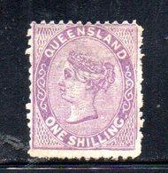 APR390 - QUEENSLAND 1883,  1 Sh Yvert N. 56 Senza Gomma   (2380A) - Nuovi
