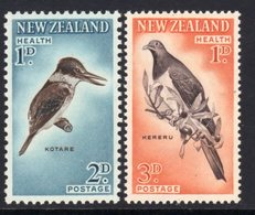 New Zealand 1960 Health Stamps Birds Set Of 2, Hinged Mint, SG 803/4 - Unused Stamps