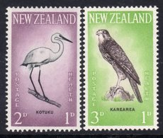 New Zealand 1961 Health Stamps Birds Set Of 2, Hinged Mint, SG 806/7 - Unused Stamps
