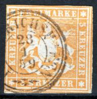 Germania Wurttemberg 1857 Unif.7 O/Used VF/F - Wurttemberg