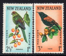 New Zealand 1962 Health Stamps Birds Set Of 2, Hinged Mint, SG 812/3 - Unused Stamps