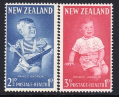 New Zealand 1963 Health Stamps Set Of 2, MNH, SG 815/6 - Unused Stamps