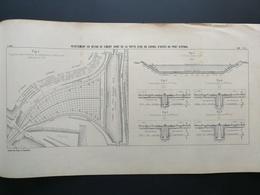 ANNALES DES PONTS Et CHAUSSEES (Dep 88)- Plan Du Revêtement En Béton De Ciment Armé Du Port D'épinal - 1901 (CLC66) - Cartes Marines