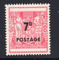 New Zealand 1964 '7d POSTAGE' Surcharge On Blank, MNH, SG 825 - Unused Stamps