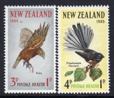New Zealand 1965 Health Stamps Birds Set Of 2, MNH, SG 831/2 - Unused Stamps