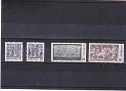 SUEDE 1971 SCULPTURES Yvert 696-699 NEUF** MNH - Suède