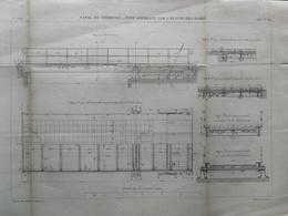ANNALES DES PONTS Et CHAUSSEES (Dep 58)- Plan Du Canal Du Nivernais._Pont Oscillant - Graveur E.Pérot - 1883 (CLC67) - Travaux Publics