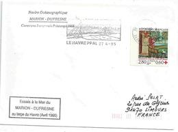 YT 2915 - Croix Rouge - Saint Vaast - Essais En Mer Du Marion Dufresne Au Large Du Havre - France
