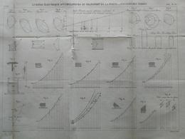 ANNALES DES PONTS Et CHAUSSEES - Plan D'une Lumière électrique Accumulateurs - Graveur E.Pérot - 1883 (CLC68) - Technische Pläne