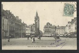 Douai (59 ) Ref 11 Recto Verso  Place D Armes - Douai