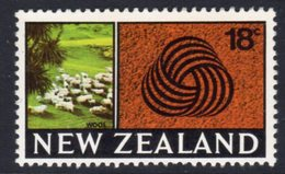 New Zealand 1967-70 18c Sheep Definitive, MNH, SG 875 - Unused Stamps