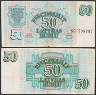 Latvia / 1992 / 50 Rubli / P: 40 / VF - Latvia