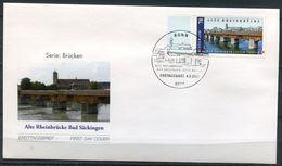 """Germany 2008 First Day Cover Mi.Nr.2691 Ersttagsbrief""""Brücken-Alte Rheinbrücke,Bad Säckingen) """"1 FDC - Brücken"""