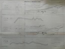 ANNALES PONTS Et CHAUSSEES ( Dep 40) - Plan De L'Amélioration De L'Embouchure De L'Adour - Imp L.Courtier - 1900 (CLC69) - Cartes Marines