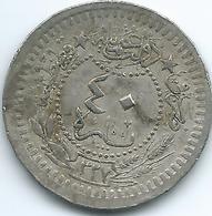 Turkey - Ottoman - Mohammed V - AH1327 / 9 (1917) - 40 Para - KM779 - Turquie