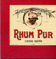 ETIQUETTE RHUM PUR GRAND AROME - Rhum