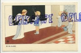 La Classe. Petite Fille, Anges, Tableau. Signée Gouppy. 1946 - Anges