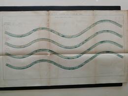 ANNALES PONTS Et CHAUSSEES - Plan De L'Action De L'Eau Courante Sur Un Fond De Sable - Imp Monrocq - 1894 (CLC70) - Nautical Charts