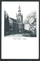 +++ CPA - SINT TRUIDEN - SAINT TROND - Eglise - Kerk - Publicité St Nicolas - Galeries Brugeoises Brugge  // - Sint-Truiden
