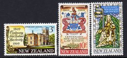 New Zealand 1969 Law Society Centenary Set Of 3, MNH, SG 894/6 - Unused Stamps
