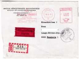 K139 Germany Red Meter Freistempel EMA 1979 KÖLN 1 BOTSCHAFT DER UNGARISCHEN VOLKSREPUBLIK - [7] République Fédérale