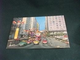 AUTO CAR TAXI AUTOBUS A SCENE OF HONG KONG FESTIVAL  CINA PICCOLO FORMATO - Taxi & Carrozzelle